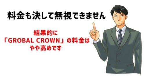 オンライン英会話「GROBAL CROWN」の料金